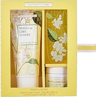 Heathcote & Ivory Manicure Set, Neroli and Lime Leaves
