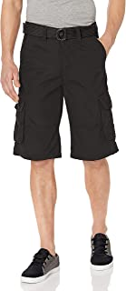 Men's All-Season Belted Ripstop Basic Cargo Short-Reg and...
