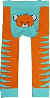WADDLE Baby Girl Tiger Print Leggings/Footless Baby Tights, Newborn 0-12 Months, Blue Pants