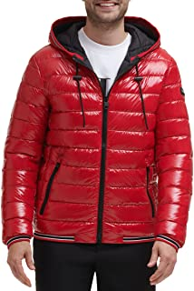 Men's Hooded Super Shine Puffer Jacket