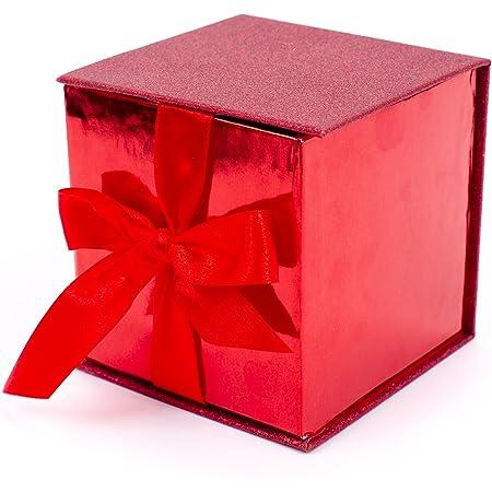 Hallmark Signature - Caja con purpurina, Rojo (Red Glitter), 1