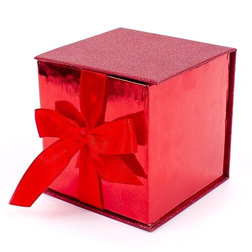93b0b48be2da Hallmark Signature Small Gift Box with Fill (Red Glitter)
