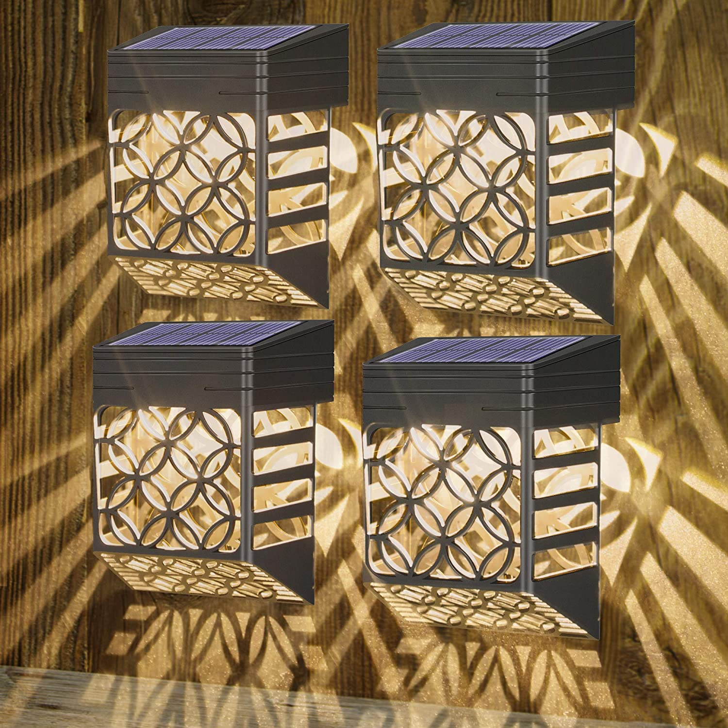 Nasharia All stores are sold Solar Deck Lights Max 73% OFF Fence Outdoor Wall Light
