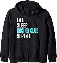 Racing Club Gift Eat Sleep Repeat Soccer Argentina Zip Hoodie