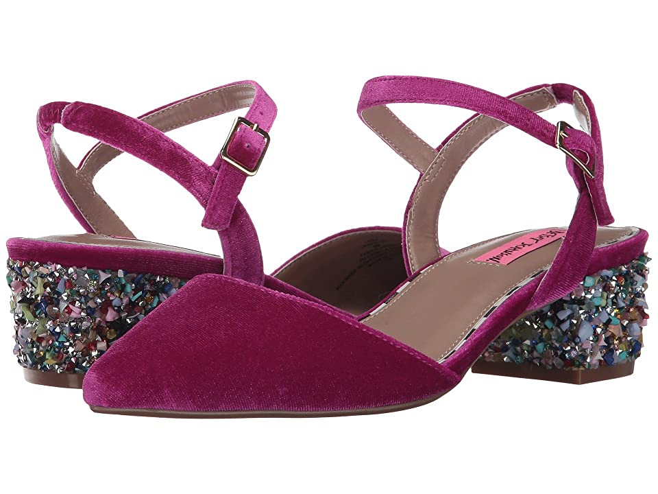 Blue by Betsey Johnson Lena (Magenta Velvet) Women