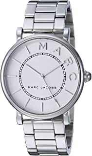 Marc Jacobs Women's 'Roxy' Quartz Stainless Steel Casual Watch, Silver-Toned (Mj3521), Silver Band, Analog Display