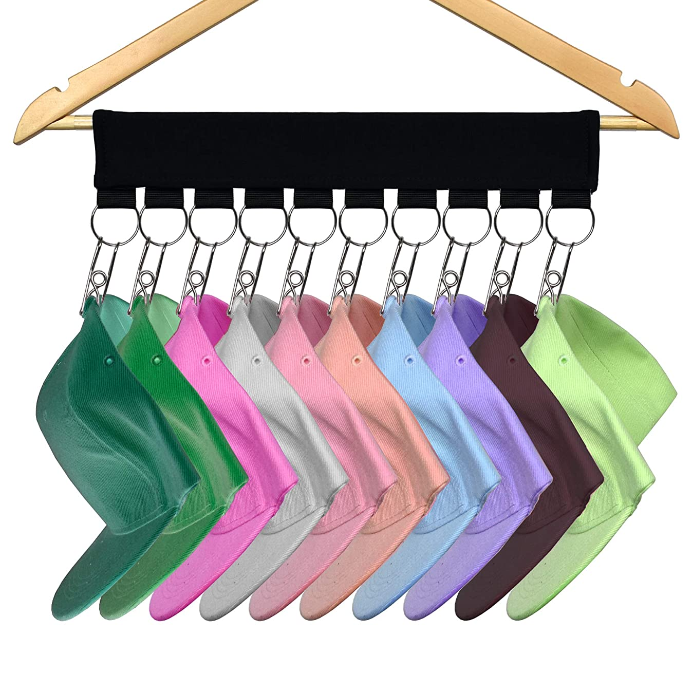 YYST Cap Organizer Hanger, Hat Holder, Hat Organizer - Change Your Ordinary Hanger to Cap Organizer Hanger