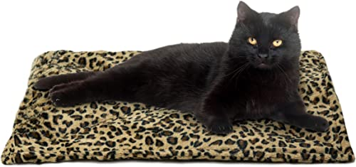 FurHaven Pet Heating Pad | ThermaNAP Faux Fur Self-Warming Bed Mat for Dogs & Cats, Leopard Print product image