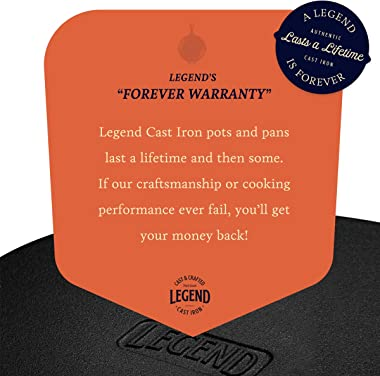 Legend Cast Iron Multi Cooker Skillet Set | 3Q Dutch Oven for Bread, Frying, Cooking | Iron Pan With Lid Works on Induction,