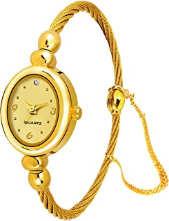 White Bird Analogue Gold Dial Jewellery Bangle Women's Watch