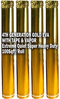 400SQFT AMERIQUE 4TH Generation High-Density Luxury Gold 2.5MM Thick EVA Foam Flooring Underlayment Padding with Tape & Vapor Barrier, Elasticized Closed-Cell Technology