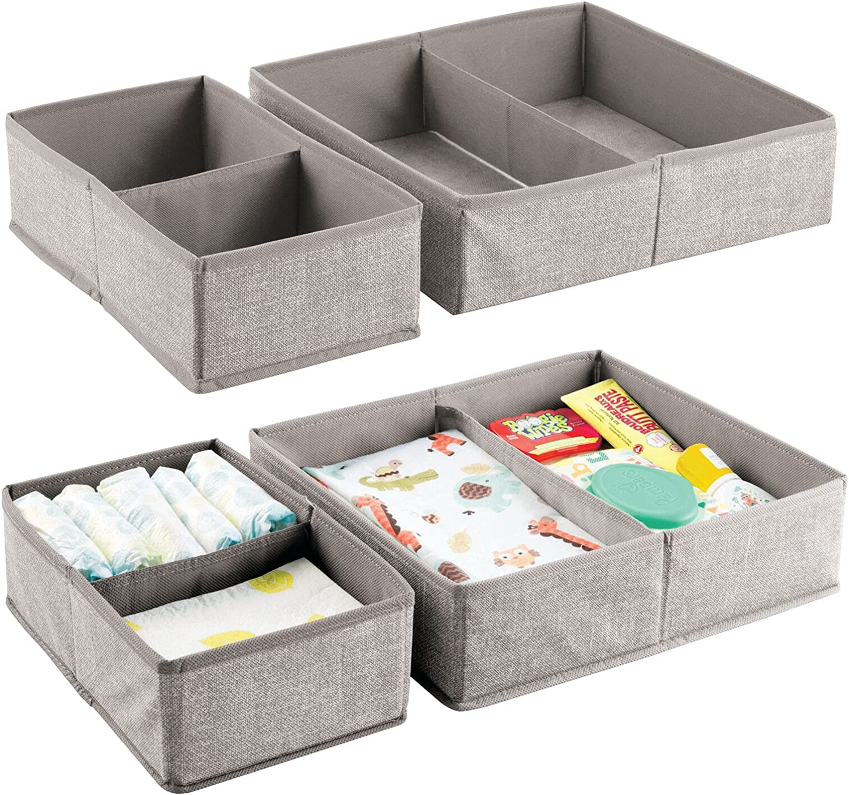 mDesign Very popular Soft Fabric Dresser Drawer and Closet Storage Sale price Organizer