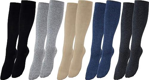 Vitasox Chaussettes de contention, chaussettes de voyage en coton, unisexe chaussettes de compression 2, 4 ou 6 paires