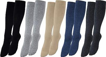 Vitasox Stützstrümpfe für Damen & Herren, Stützkniestrümpfe aus Baumwolle mit Kompression für Flug, Reise, Büro und Auto, Thrombose Socken gegen geschwollene Beine
