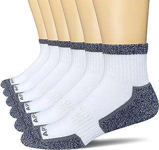 APTYID Men's Ankle Quarter Performance Cushion Athletic Running Socks (6 Pack)