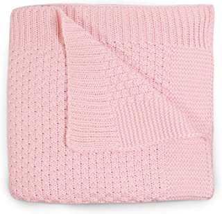 Cute New York Premium 100% Cotton Cable Knit Toddler Blankets Receiving Blanket, Baby Nursery & Stroller Blanket for Boys ...