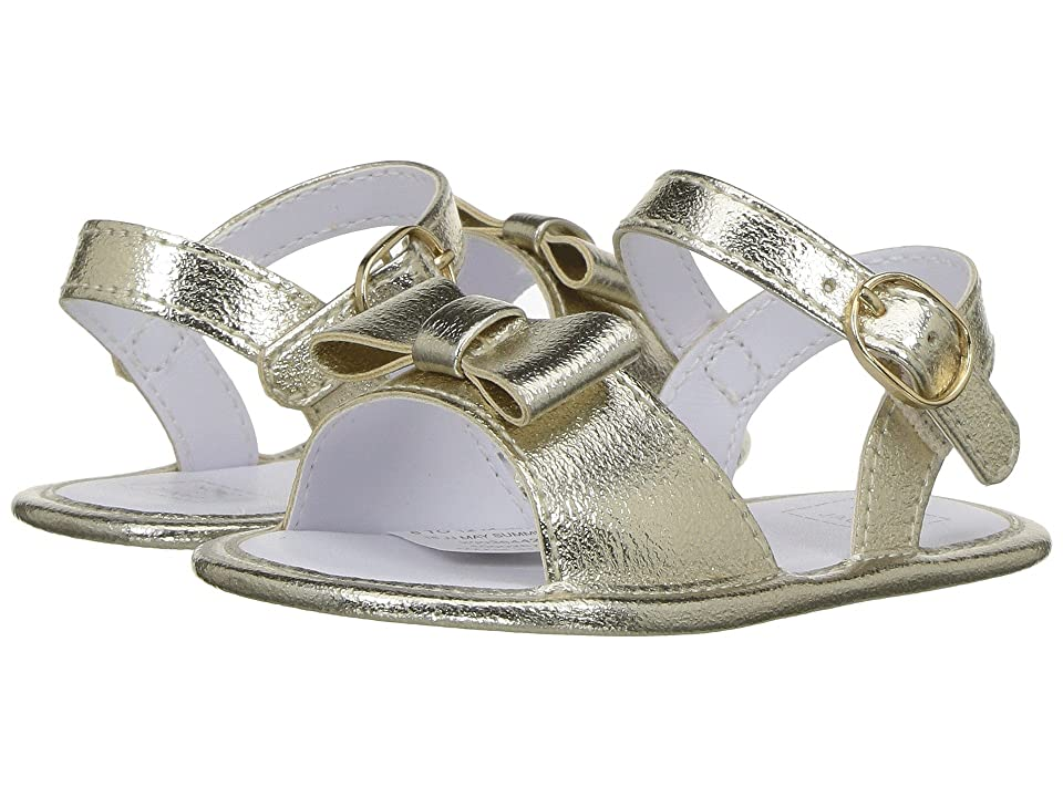 Janie and Jack Bow Sandal (Infant) (Gold) Girls Shoes