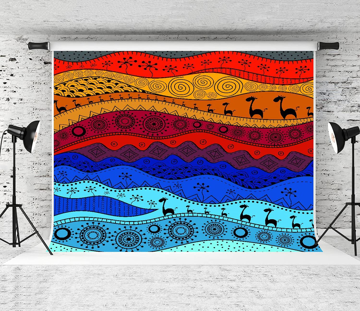 PATINISA At the price low-pricing Photography Background African Pattern Handdrawn Ethno