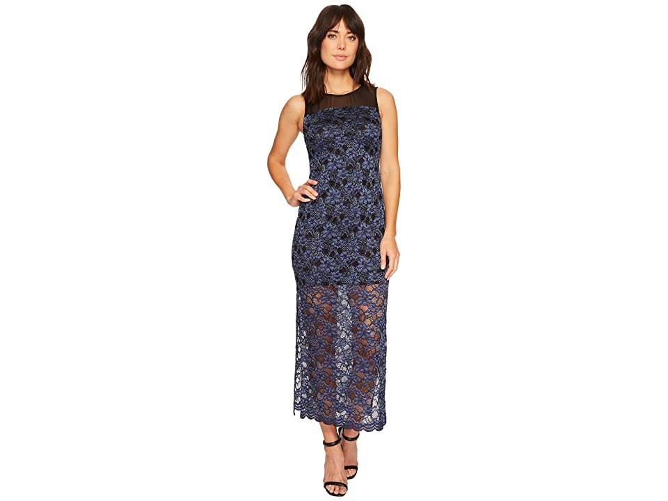 CeCe Mary Sleeveless Lace Maxi Dress (Rich Black) Women