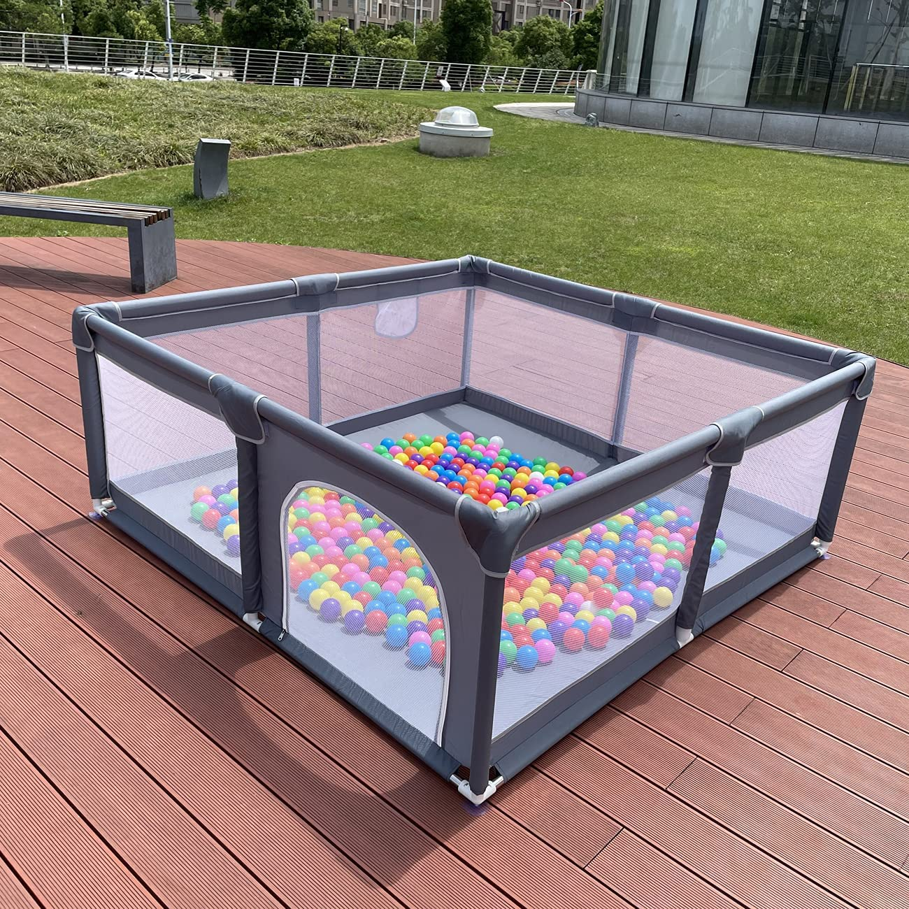Large Space Kids Baby Brand Cheap Sale Venue Ball Pit Playpen Indoor Square Outd - Free Shipping Cheap Bargain Gift