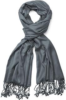 750f18a0e1e131 styleBREAKER Stola Schal, Tuch mit Fransen in vielen verschiedenen Farben,  Unisex 01012035