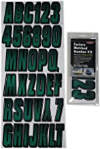 Hardline Products Series 300 Factory Matched 3-Inch Boat & PWC Registration Number Kit, Forest Green/Black