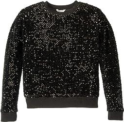 Kairi Velour Sequin Pullover (Big Kids)