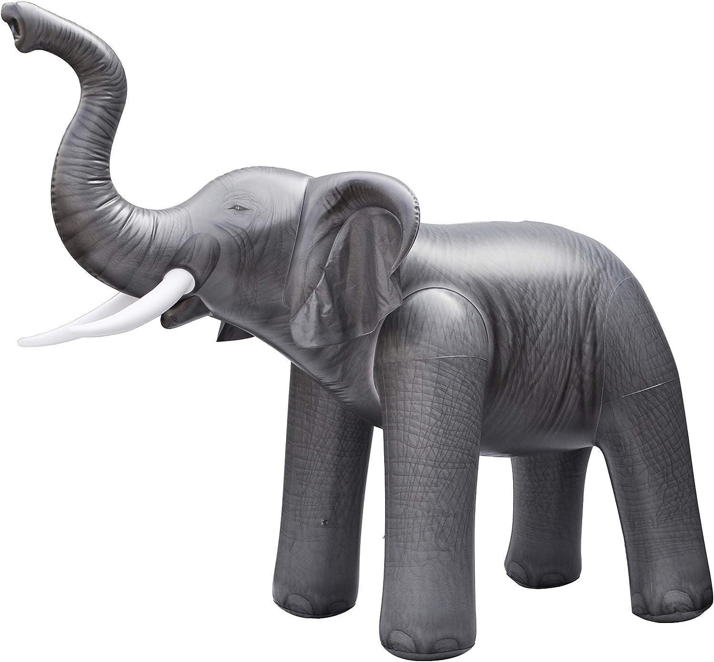 Jet Creations Lifelike Giant Sprinkler Elephant Summer Inflatable 118  Long by ALELE