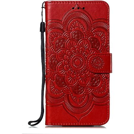 A20e Hülle Kompatible Für Samsung Galaxy A20e Mandala Muster Flip Case Cover Handytasche Pu Leder Etui Tasche Skin Handyhülle Schutzhülle Skin Ständer Klapphülle Schale Bumper Magnet Clip Grau Musikinstrumente
