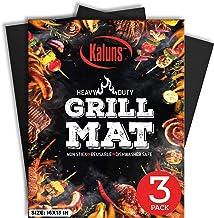 Kaluns Grill Mat, Best BBQ Mat - Heat Resistant up to 600 Degree - Nonstick, Reusable, Dishwasher Safe, Set of 3