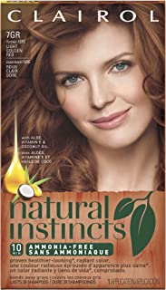 Clairol Natural Instincts Semi-Permanent Hair Color, 1 Kit, 7GR / 15RG Golden Sienna Light Golden Red Color, Ammonia Free, Long Lasting