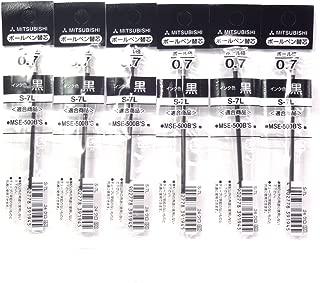 Uni-ball 0.7mm Black Oil-based Ink Refill (S-7L.24), for Uni-ball Pure Malt Ballpoint Pen, × 6 Packs/total 6 pcs (Japan Import) [Komainu-Dou Original Package]