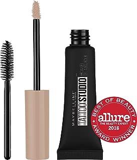 Maybelline TattooStudio Longwear Waterproof Eyebrow Gel Makeup for Fully Defined Brows, Spoolie Applicator Included, Lasts Up To 2 Days, Light Blonde, 0.23 Fl Oz (Pack of 1)