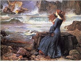 Trademark Fine Art IC01579-C2432GG Miranda The Tempest by John William Waterhouse, 24x32, Multiple