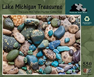 Puzzles that Rock Lake Michigan Treasures - 550 Piece Puzzle
