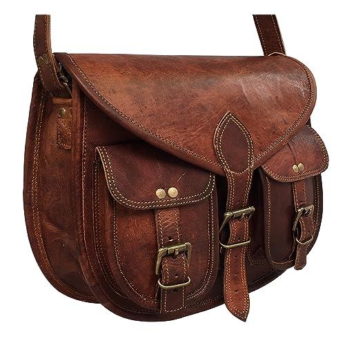 cuero 14 Inch Leather Crossbody Satchel Ladies Purse Women Shoulder Bag  Tote Travel Purse Genuine Leather