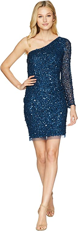 51f36f13ffa Adrianna Papell. Beaded Cocktail Dress.  174.99MSRP   249.00. Deep Blue
