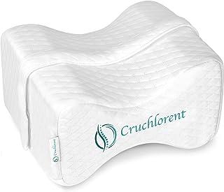 Cruchlorent - Cojín ortopédico ergonómico para rodillas y piernas, segunda generación de espuma viscoelástica de algodón transpirable
