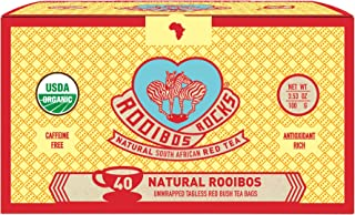 Sponsored Ad - Rooibos Tea Immune Support Teabags - 40 USDA Organic Non GMO Naturally Caffeine Free South African Red Bush...