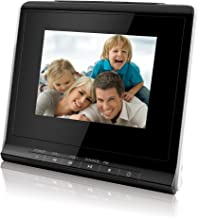 Coby DP356BLK 3.5-Inch Digital Photo Frame with Alarm Clock, Black