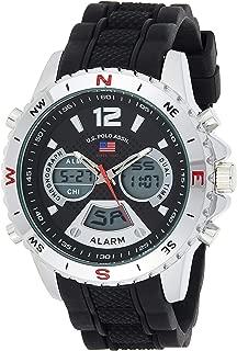 Sport Men's Quartz Watch with Rubber Strap, Black, 22...