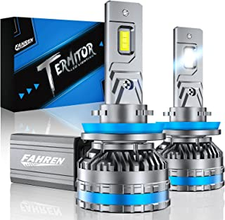 Fahren H11/H9/H8 LED Headlight Bulbs, 120W 20000 Lumens Bright LED Headlights, 6500K Cool White LED Headlight Conversion Kit IP68 Waterproof, Quick Installation, Pack of 2