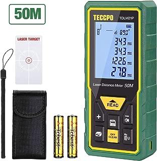 Telémetro láser 50m, TECCPO Medidor láser con Sensor de