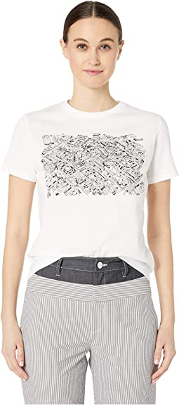 White & Black Graphic T-Shirt