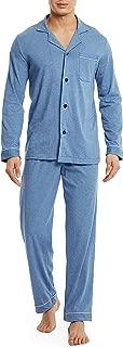 David Archy Men's 100% Cotton Long Button-Down Sleepwear Pajama Set