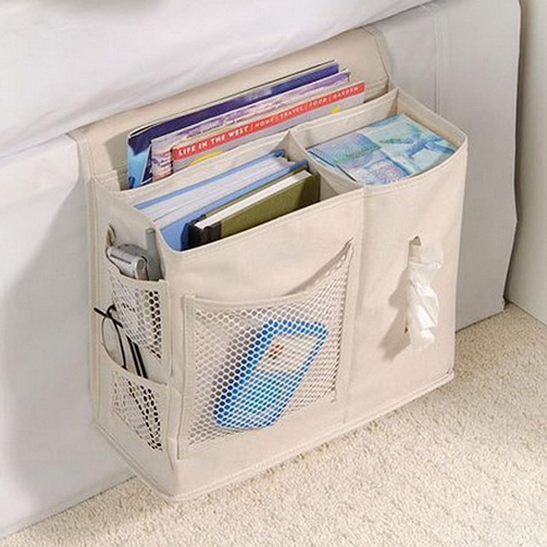 Easy-to-use Elonglin Bedside Caddy Pocket 600D San Antonio Mall Hanging Storag Oxford