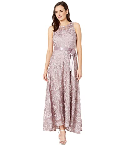 Tahari by ASL Embroidered Soutache Sleeveless Gown (Mauve) Women