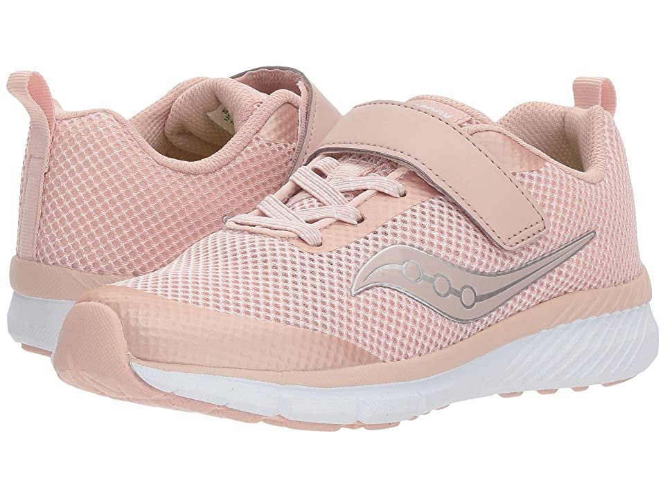 Saucony Kids Ideal A/C (Little Kid) (Blush) Girls Shoes