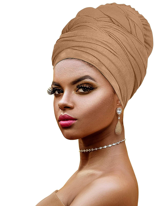 Ankara African Print Soft Headwraps Headband Long Hair Head Wrap Scarf Turban Tie Jersey Knit African head wraps