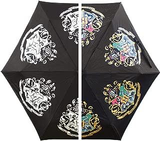 Harry Potter Colour Changing Umbrella Hogwarts Slogan Half Moon Ombrelli